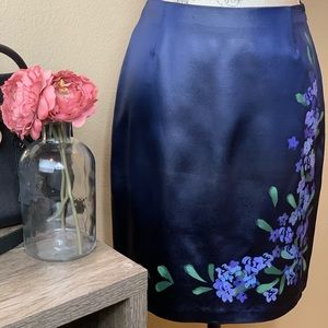 Cache ~ Purple Hand Painted Skirt